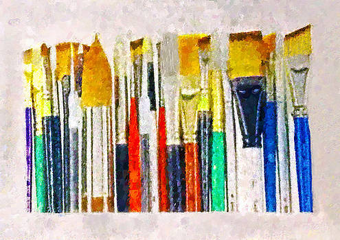 Artists Paint Brushes Painted by Sandi OReilly