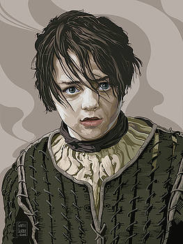 Arya Stark by Garth Glazier