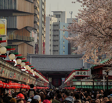 Asakusa Senso-ji crowd by Nate Richards