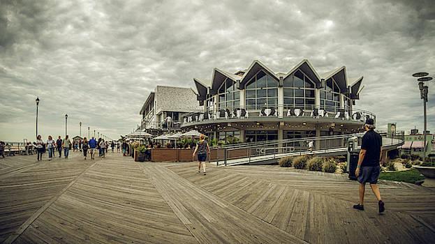Asbury Park Boardwalk Looking south by Steve Stanger