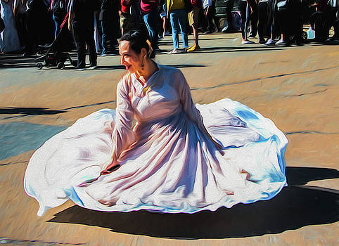 Asian Swirl - 3 by Alan Goldberg