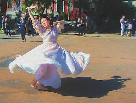 Asian Swirl - 4 by Alan Goldberg