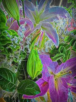 Asian Lilies Abstract by Betsy Cullen