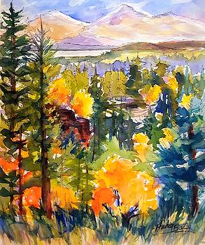 Aspens Oaks and Honey Lake by Therese Fowler-Bailey