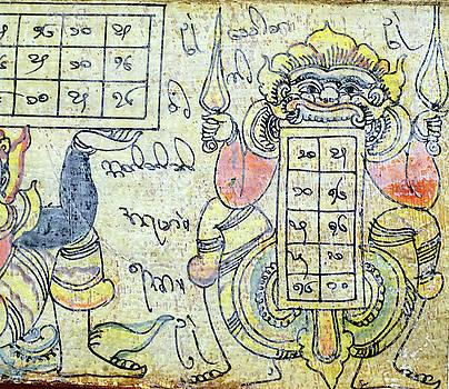Astrological figures and calendar by Steve Estvanik