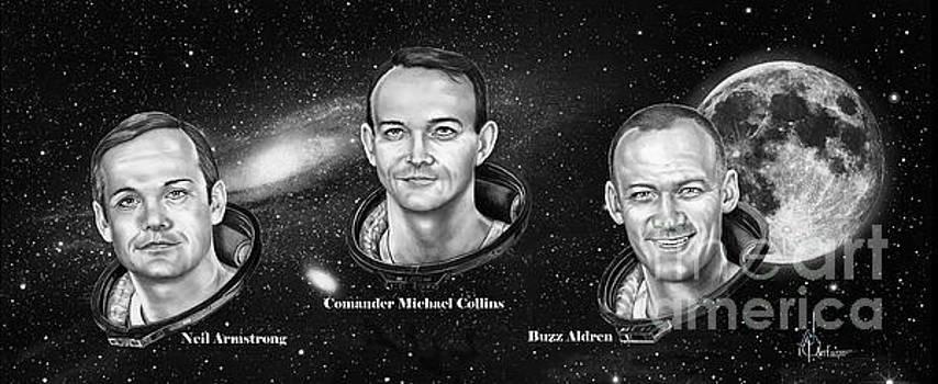 Astronauts Three by Murphy Elliott