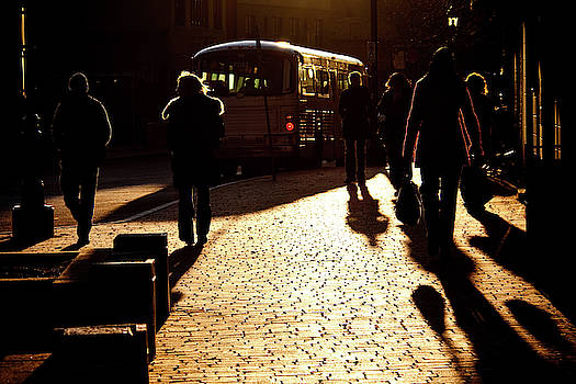 At the bus stop by Tatiana Travelways