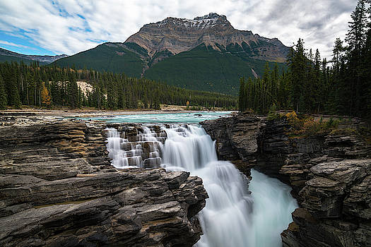 Athabasca Falls in the Canadian Rockies by James Udall