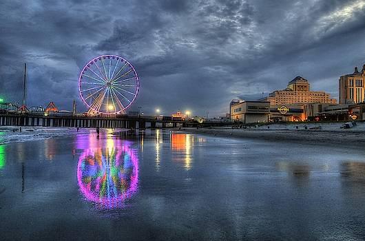 Atlantic City Ferris Wheel by John Loreaux