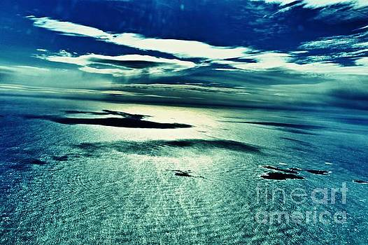 Atlantic Ocean with Islands and Clouds by Sarah Loft