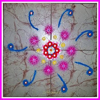 Auspicious Rangoli design by Sonali Gangane