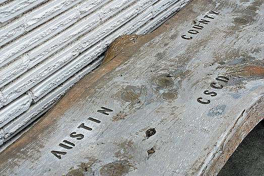 Austin County C.S.C.D. Bench  by Connie Fox