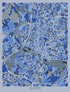 Austin Map Retro 5 by Bekim M