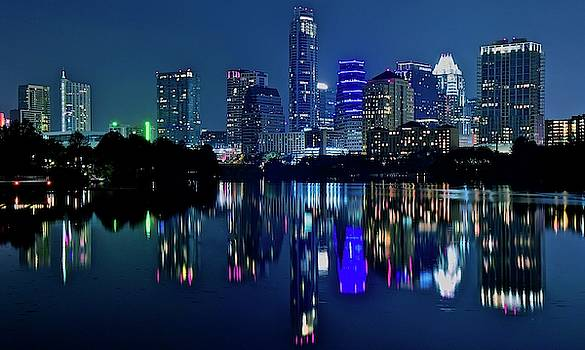 Frozen in Time Fine Art Photography - Austin Night Reflection