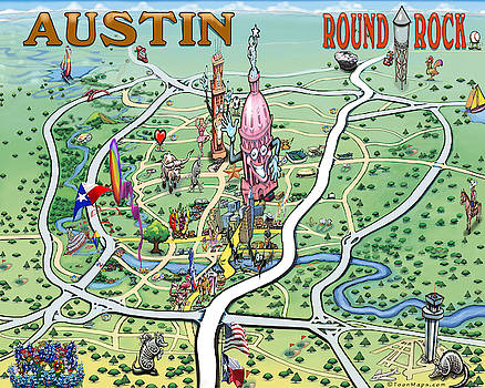 Kevin Middleton - Austin Round Rock Texas Fun Map