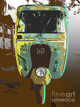 Auto Rickshaw Pop Art by Jean luc Comperat