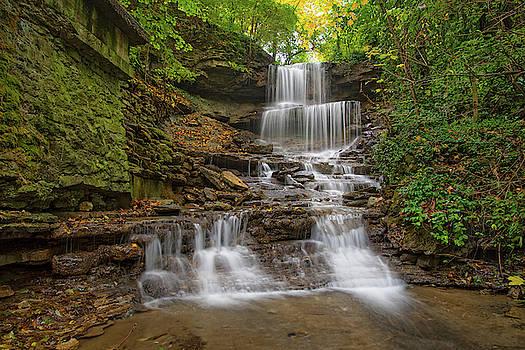 Autumn at West Milton Cascades, an Ohio Waterfall by Ina Kratzsch