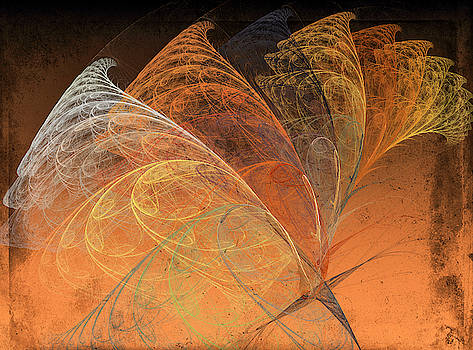 Autumn Breeze Fractal by Betsy Knapp