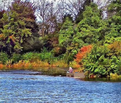 Autumn Fishing by Cedric Hampton