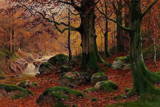Autumn Forest I I by Walter Moras