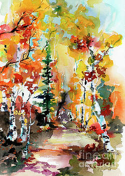 Ginette Callaway - Autumn Forest Symphony Watercolors