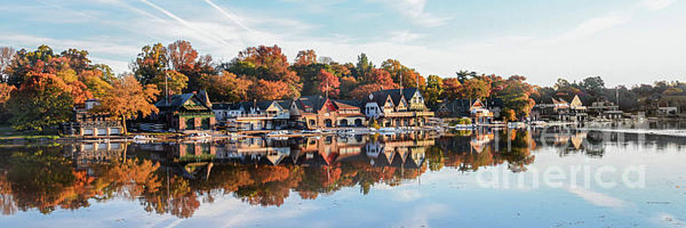 Autumn Houses on the Water by Stacey Granger
