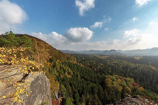Autumn in the Elbe Sandstone Mountains by Andreas Levi