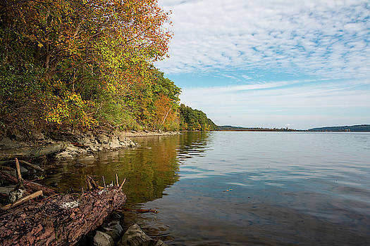 Autumn Morning Along the Hudson by Jeff Severson