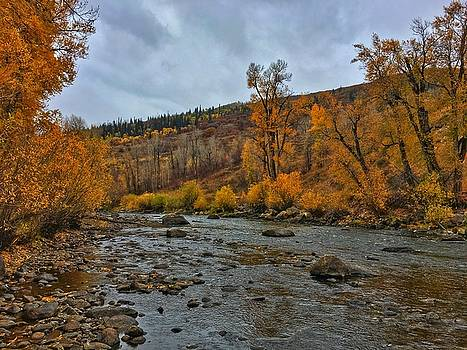 Autumn on the Yampa River by Dan Miller