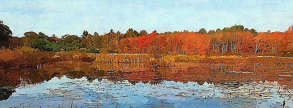 Autumn Pond by Bakke and Schweizer Paintings