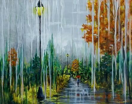 Autumn Rainy Day Stroll  by Danett Britt