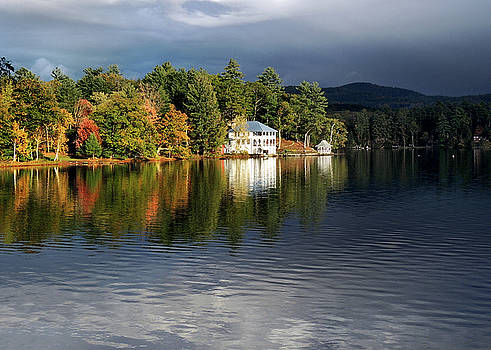 Autumn Reflection Lake Morey Vermont by Nancy Griswold