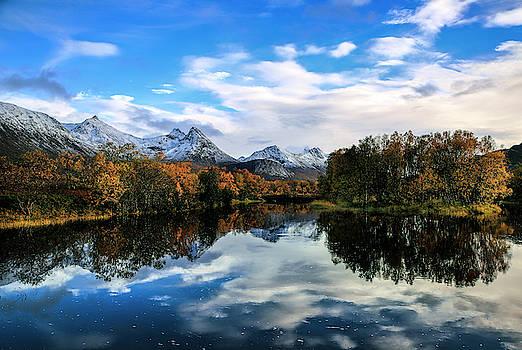 Autumn river by Frank Olsen
