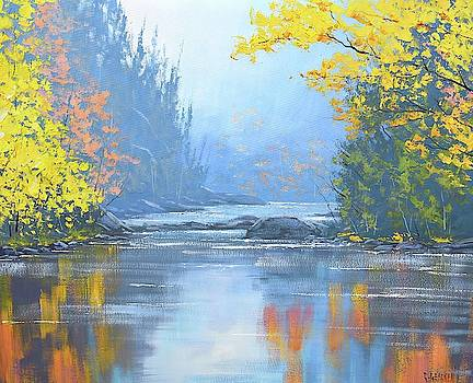 Autumn River trees by Graham Gercken
