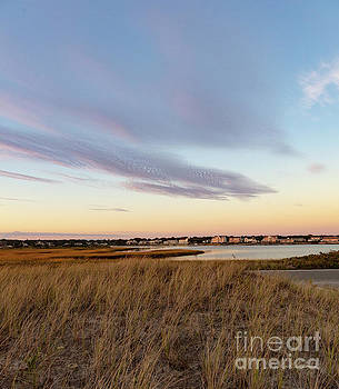 Michelle Constantine - Autumn Sunset at West Dennis Beach Cape Cod