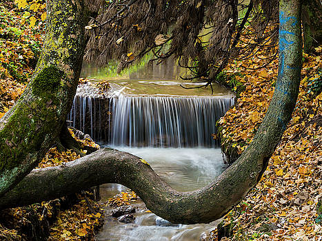 Autumn Waterfall in Brasov by Rae Tucker