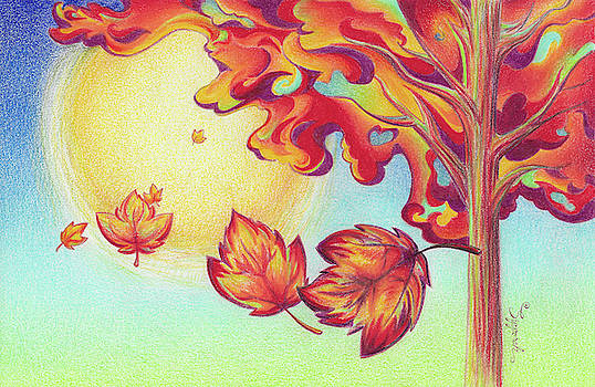 Autumn Wind and Leaves by Sipporah Art and Illustration