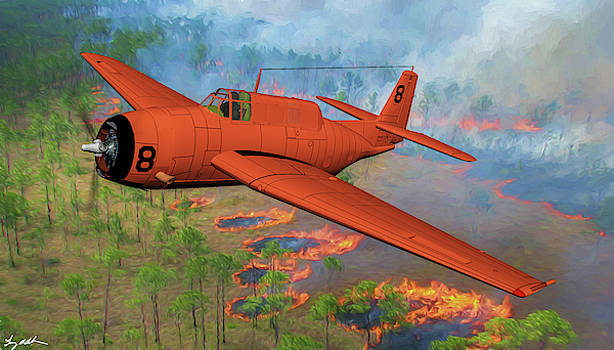 Avenger Fire Tanker - Oil by Tommy Anderson