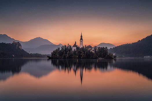 Awakening at Lake Bled by Ludwig Riml