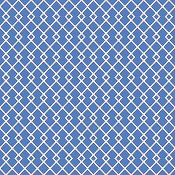 Azure Blue Diamond Pattern by Ross