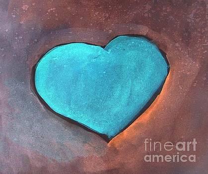 Azure Heart by Vesna Antic