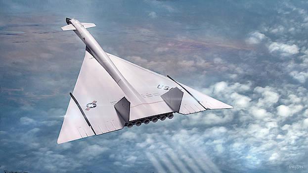 James Vaughan - B-70  under mach over Kansas