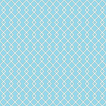 Baby Blue Diamond Pattern by Ross