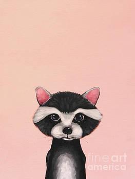 Baby Raccoon by Lucia Stewart