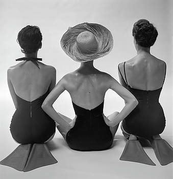 Back View Of Fashion Models In Swim Suits by Toni Frissell