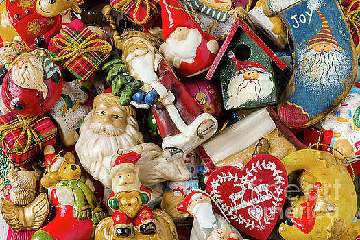 Background of Christmas decorations. by Marina Zanotti