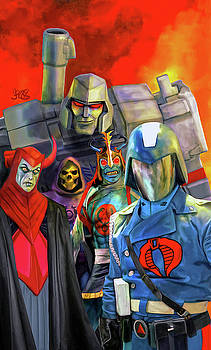 Bad Guys From the 80s Cartoons by Mark Spears