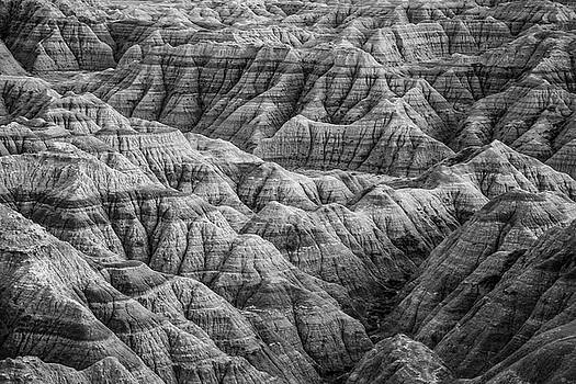 Badlands Black and White by Steven Bateson