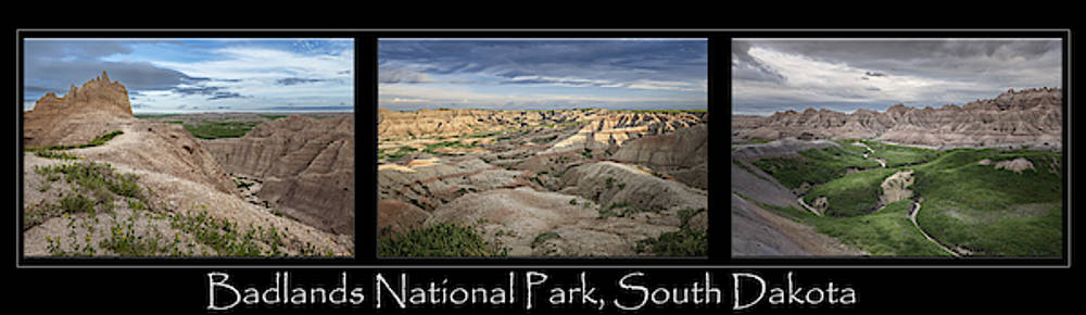 Badlands National Park Poster by Joan Carroll