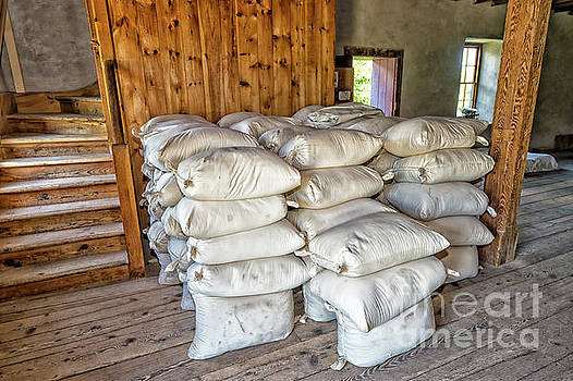 Bags of flour milled in the Steam-powered Flour Mill by Robert McAlpine